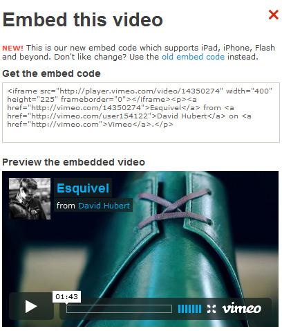code source vimeo